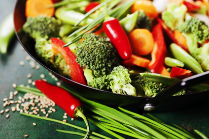 Gemüse dünsten oder braten?