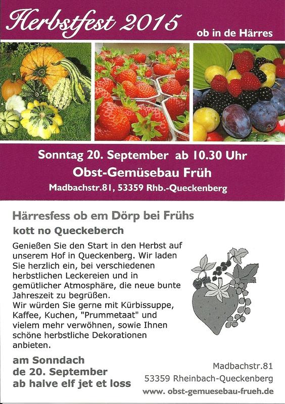 Herbsfest 2015 Hof Früh